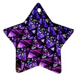 Blue purple Glass Star Ornament