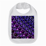Blue purple Glass Bib