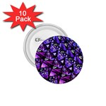 Blue purple Glass 1.75  Button (10 pack)