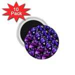 Blue purple Glass 1.75  Button Magnet (10 pack)