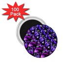 Blue purple Glass 1.75  Button Magnet (100 pack)