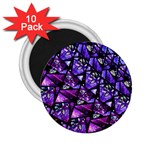 Blue purple Glass 2.25  Button Magnet (10 pack)