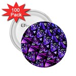 Blue purple Glass 2.25  Button (100 pack)