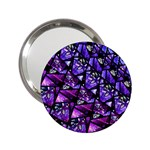 Blue purple Glass Handbag Mirror (2.25 )