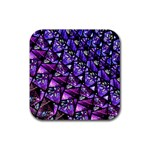 Blue purple Glass Drink Coaster (Square)