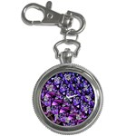 Blue purple Glass Key Chain Watch