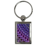 Blue purple Glass Key Chain (Rectangle)