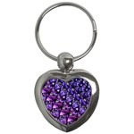 Blue purple Glass Key Chain (Heart)