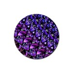 Blue purple Glass Drink Coasters 4 Pack (Round)