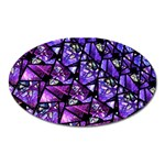 Blue purple Glass Magnet (Oval)