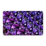 Blue purple Glass Magnet (Rectangular)