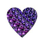 Blue purple Glass Magnet (Heart)