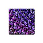 Blue purple Glass Magnet (Square)