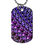 Blue purple Glass Dog Tag (One Sided)