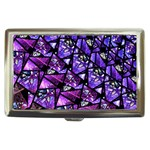 Blue purple Glass Cigarette Money Case