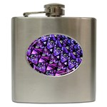Blue purple Glass Hip Flask
