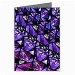 Blue purple Glass Greeting Card (8 Pack)