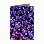 Blue purple Glass Mini Greeting Card (8 Pack)