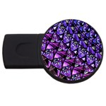 Blue purple Glass 2GB USB Flash Drive (Round)