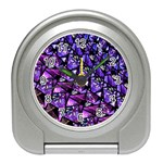 Blue purple Glass Desk Alarm Clock