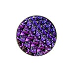 Blue purple Glass Golf Ball Marker 4 Pack (for Hat Clip)