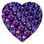Blue purple Glass Jigsaw Puzzle (Heart)