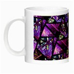 Blue purple Glass Glow in the Dark Mug