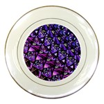 Blue purple Glass Porcelain Display Plate