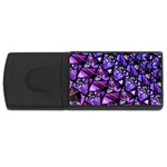 Blue purple Glass 4GB USB Flash Drive (Rectangle)