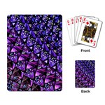 Blue purple Glass Playing Cards Single Design