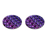 Blue purple Glass Cufflinks (Oval)