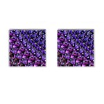 Blue purple Glass Cufflinks (Square)