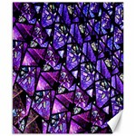 Blue purple Glass Canvas 8  x 10  (Unframed)