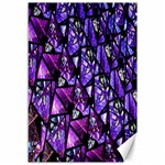 Blue purple Glass Canvas 12  x 18  (Unframed)