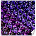 Blue purple Glass Canvas 16  x 16  (Unframed)