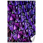 Blue purple Glass Canvas 24  x 36  (Unframed)