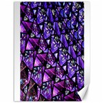 Blue purple Glass Canvas 36  x 48  (Unframed)