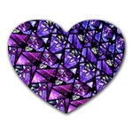 Blue purple Glass Mouse Pad (Heart)
