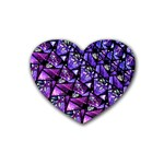 Blue purple Glass Drink Coasters (Heart)