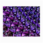 Blue purple Glass Glasses Cloth (Small, Two Sided)