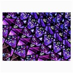 Blue purple Glass Glasses Cloth (Large, Two Sided)