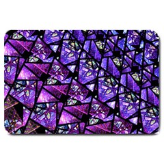Blue Purple Glass Large Door Mat