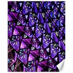 Blue purple Glass Canvas 11  x 14  (Unframed)