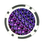 Blue purple Glass Poker Chip