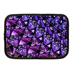 Blue Purple Glass Netbook Sleeve (medium) by KirstenStar