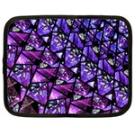 Blue purple Glass Netbook Sleeve (Large)