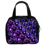 Blue purple Glass Classic Handbag (Two Sides)