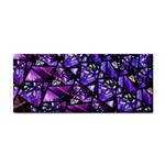 Blue purple Glass Hand Towel