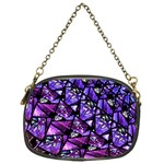 Blue purple Glass Chain Purse (One Side)