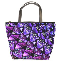 Blue Purple Glass Bucket Handbag by KirstenStar